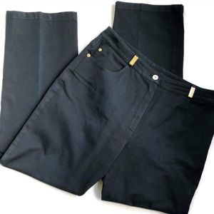 ST JOHN LUXURY / Gold Detail Black Trouser